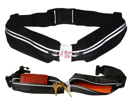 Above Elite Runner Belt- Black - Slim